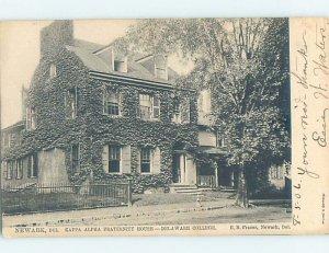 Pre-Chrome DELAWARE COLLEGE KAPPA ALPHA FRAT HOUSE Newark Delaware DE AG8126