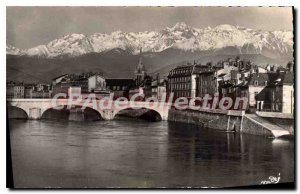 Old Postcard Grenoble Pont Marius Gontard And The Alps