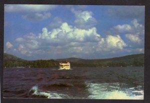 NY Fourth Lake Adirondacks New York Postcard Cruise Boat Eagle Bay Lake Pleasant