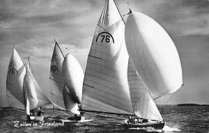 Netherlands Zeilen in Friesland, Bateaux, Boats 1952