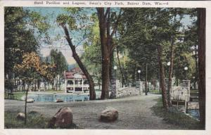 Wisconsin Beaver Dam Swan's City Park Band Pavilion and Lagoon 1929