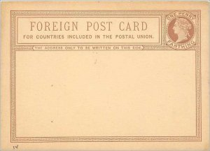 Entier Postal Stationery Postal Britain Great Britain 1 / 2p Farthing