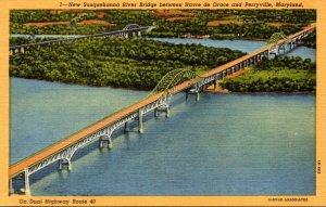 Maryland Havre De Grace/Perryville New Susquehanna River Bridge Curteich