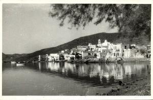 greece, MILOS MELOS, Adamantas, Panorama (1950s) RPPC