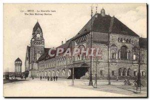 Old Postcard Metz New Station