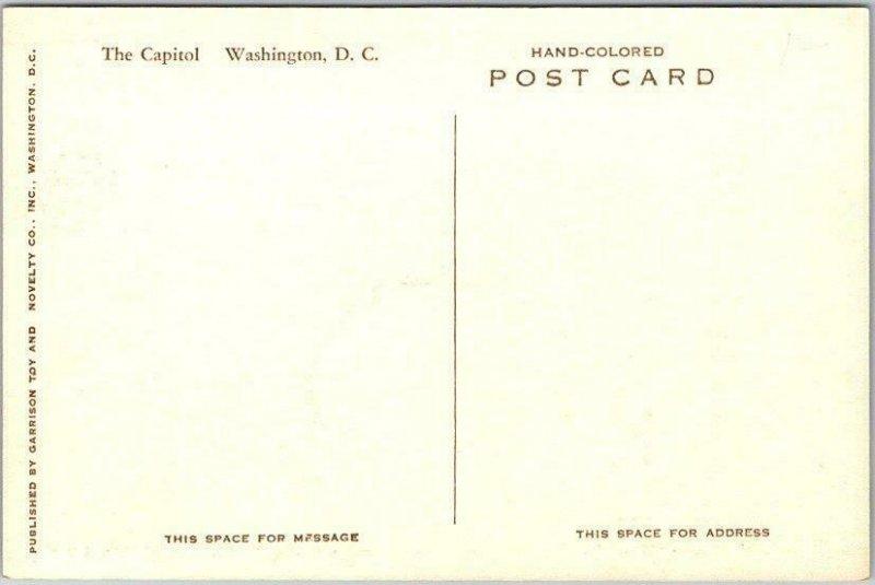 Washington DC Hand-Colored Postcard U.S. CAPITOL BUILDING 1930s Unused Albertype