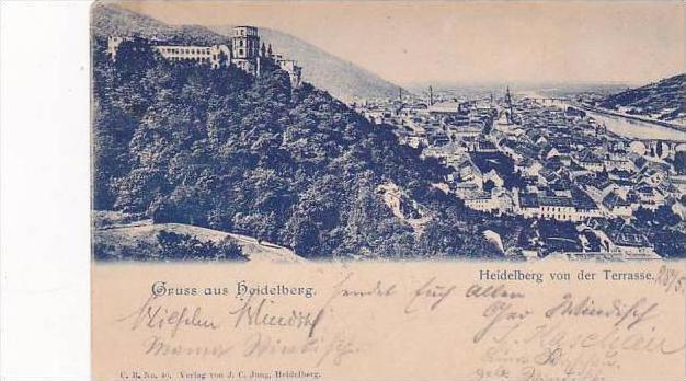 Germany Heidelberg von der Terrassee Grus Aus 1899