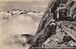 RP: Berne, SWITZERLAND, PU-1938 ;Die elektrische Pilatusbahnan der Eselwand gege