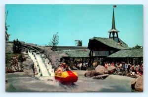 Postcard CA Anaheim Disneyland Tomorrowland Bobsled Ride E-11 A37
