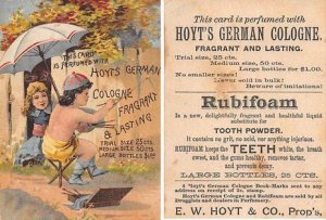 Victorian Trade Card Approx size inches = 3 x 4.25 Pre 1900 corner wear, yell...