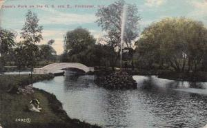 Fountain at Clark's Pond - Rochester, New York - pm 1913 - DB
