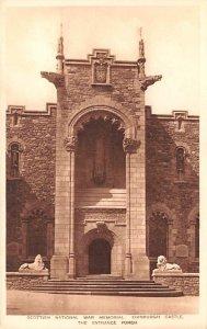 Scottish National War Memorial, Edinburgh Castle Entrance Porch Scotland, UK ...