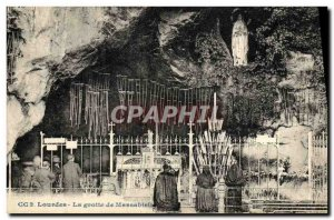 Old Postcard Lourdes Grotto of Massabielle