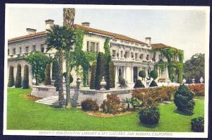 Huntington Library San Marino California unused c1930's