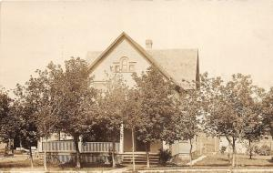 F36/ Russell Minnesota RPPC Postcard c1910 Home Porch Residence