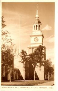 Michigan Dearborn Greenfield Village Independence Hall Real Photo