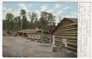 A Maine Logging Camp