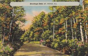 Greetings From Saint Peter Illinois 1943