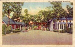 1944 ENTRANCE FORT McPHERSON, ATLANTA, GA. Post Fire Station, Service Club