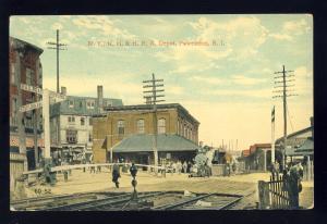 Pawtucket, Rhode Island/RI Postcard, N.Y., N.H. & H.R.R./Railroad Depot
