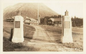 RP, SITKA, Alaska AK ~Entrance Gates SHELDON JACKSON SCHOOL 1930s