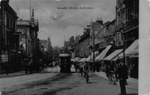 Leicester Granby Street Tram Postcard