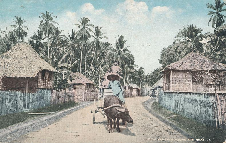 Ox Cart Along The Road - Cagayan Region of the Philippine Islands - DB