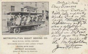 DETROIT , Michigan, 1908 ; Metropolitan Sight Seeing Co.