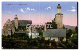 Old Postcard Cronberg i T Altes Schloss