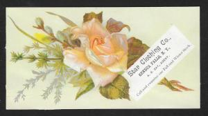 VICTORIAN TRADE CARD Star Clothing Yellow Rose