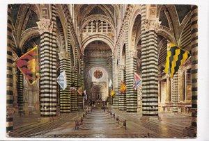 SIENA, Duomo, Interno com bandiere delle contrade, unused Postcard