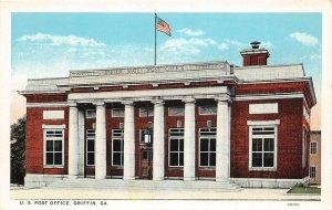 F47/ Griffin Georgia Postcard c1920s U.S. Post Office Building
