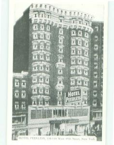 Unused Pre-1980 PEERLESS HOTEL New York City NY hr6371
