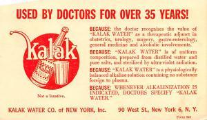 Medicine Advertising Old Vintage Antique Post Card Kalak 1952