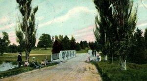 Circa 1905-10 People Bicycle Bridge, Ottawa Park, Toledo, Ohio P11