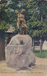 Michigan Detroit Newsboy's Fountain Belle Isle 1910