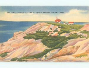 Linen LIFESAVING STATION Martha'S Vineyard Massachusetts MA W5763