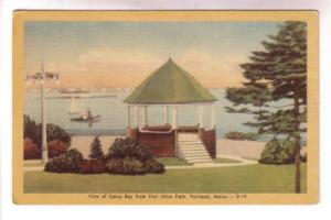 Boats in Casco Bay, Fort Allen Park, Portland, Maine,