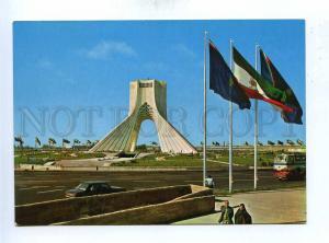 192986 IRAN TEHRAN Azadi square FLAGS old photo postcard