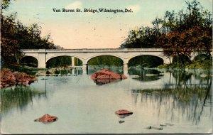 Vtg 1910s Van Buren Street Bridge Wilmington Delaware DE Postcard