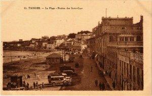 CPA AK MAROC TANGER - La Plage - Station des Auto-Cars (219622)