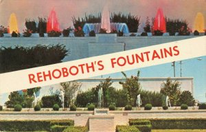 Postcard Rehoboth's Fountains Delaware