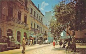 Old San Juan Street Scene Truck Old Car Storefronts Puerto Rico Postcard