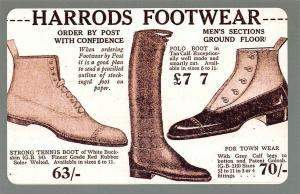 Harrods Footwear, Polo Boot, Tennis Boot, Grey Calf legs 1920 Nostalgia Reprint