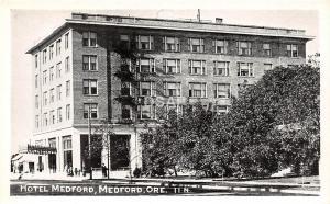 <A18> OREGON Or Postcard Real Photo RPPC c1940s MEDFORD Hotel Medford
