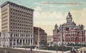 WINNIPEG , Manitoba , Canada , 00-10s : City Hall & Union Bank