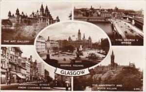 Scotland Glasgow George Statue Art Gallery King George V Bridge & More 1957 P...