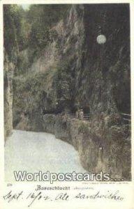 Aareschlucht Felsengalerien Swizerland Writing On Back