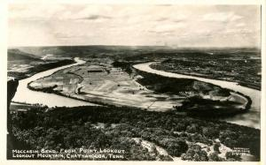 TN - Chattanooga. Mocassin Bend from Point Lookout.    *RPPC