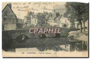 CARTE Postale Old Chartres Pont des Minimes